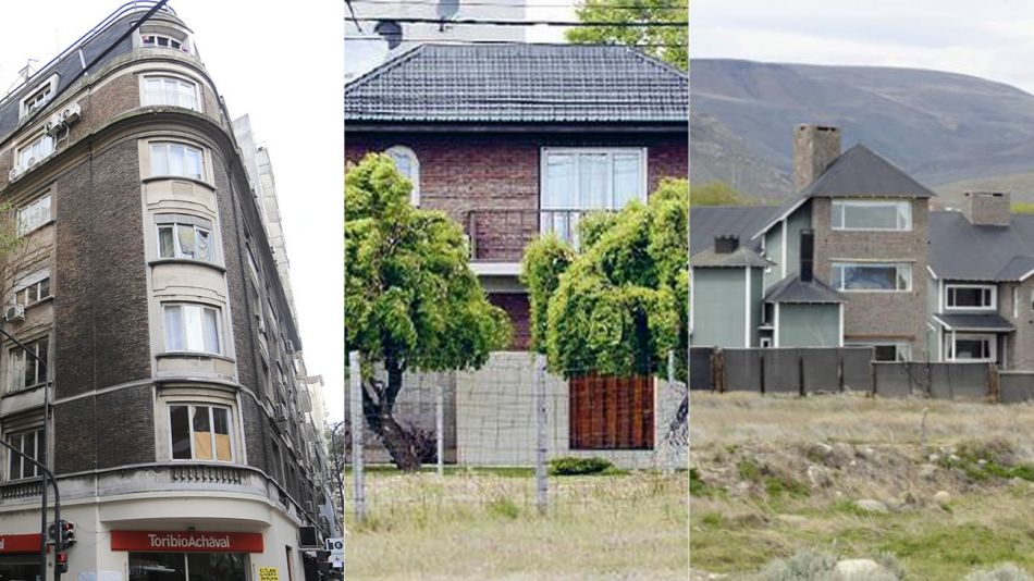 Las tres propiedades de Cristina Kirchner que van a ser allanadas.