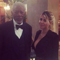 Morgan Freeman_Wanda Nara