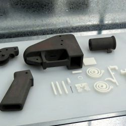 Un arma 3D desmontada