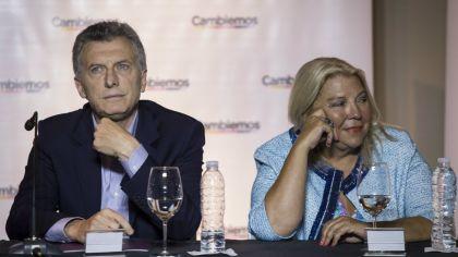 Elisa Carrió junto a Mauricio Macri