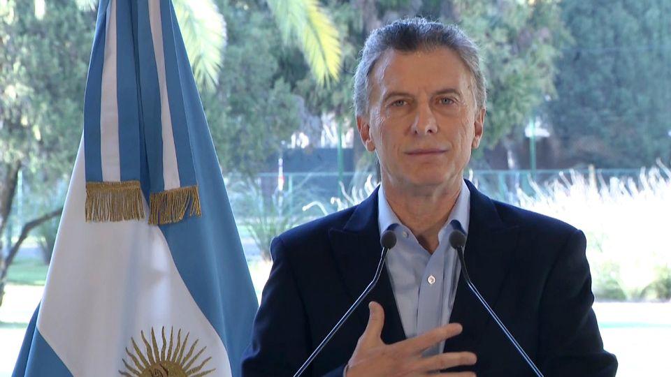Anuncio de Mauricio Macri.