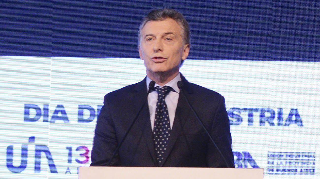 Mauricio Macri, ante la UIA.