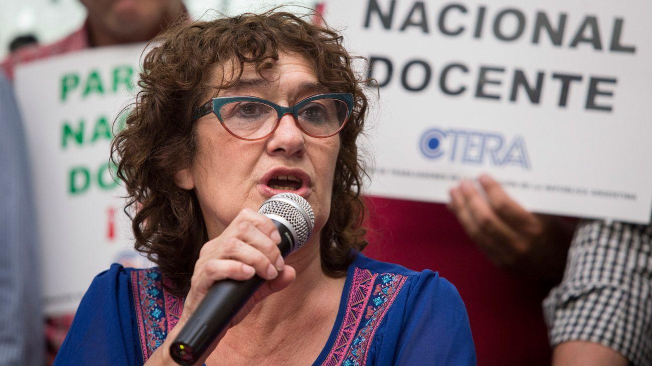 """Sonia Alesso, de Ctera: """"Ojalá este paro sirva para empezar a resolver el tema Chubut"""""""