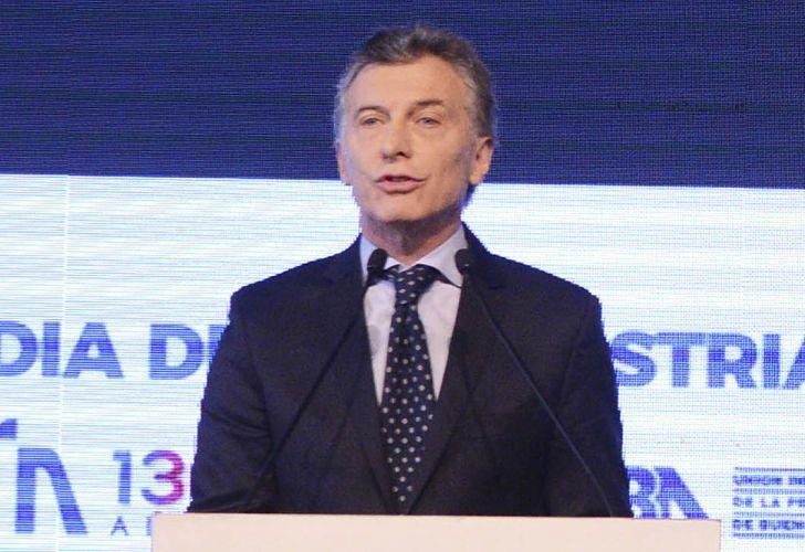 Mauricio Macri, ante la UIA