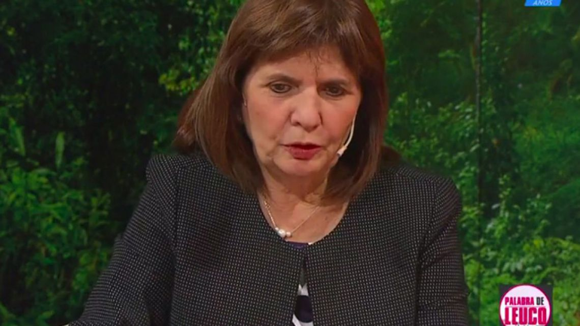 Argentina's Security Minister Patricia Bullrich.