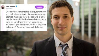 Yamil Santoro y el tuit de la polémica