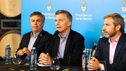 Mauricio Macri, Alfredo Cornejo, Rogelio Frigerio en Mendoza
