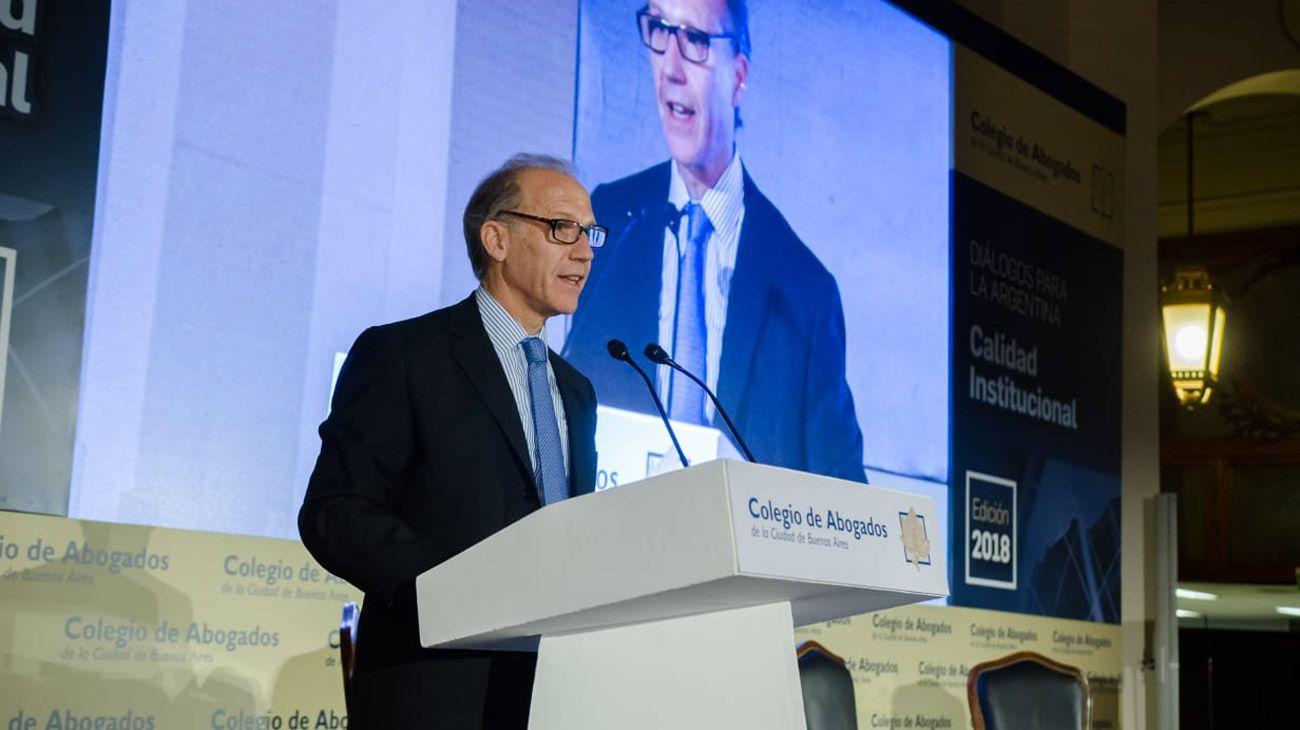 Carlos Rosenkrantz en el evento anual del Colegio de Bs. As. El jueves pasado en la Bolsa