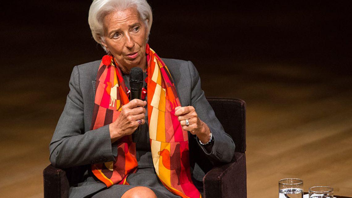 Christine Lagarde, Managing Director of the International Monetary Fund (IMF).