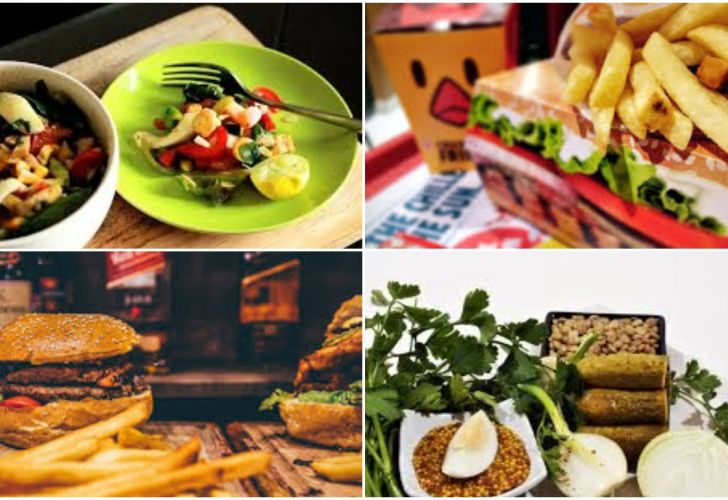 Comida Saludable vs comida chatarra