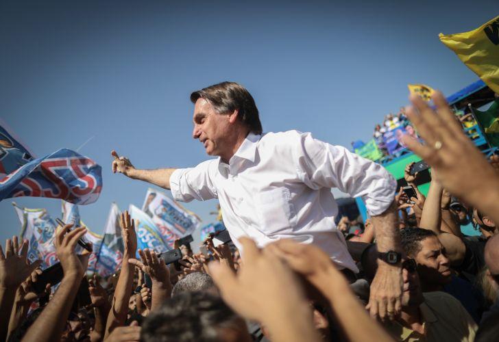 Presidential Candidate Jair Bolsonaro Holds Campaign Rally