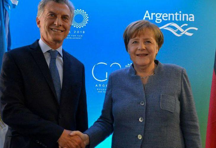 Macri con Angela Merkel 09122018