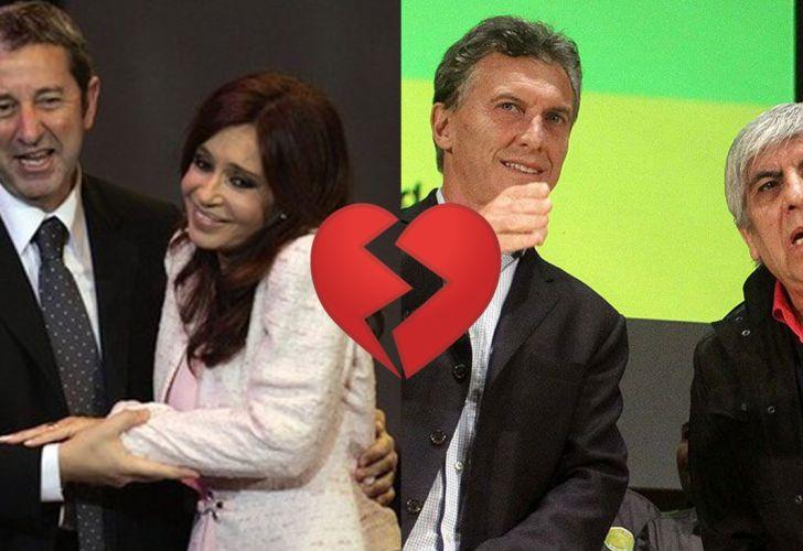 Macri , Moyano, Cristina , Cobos 09122018