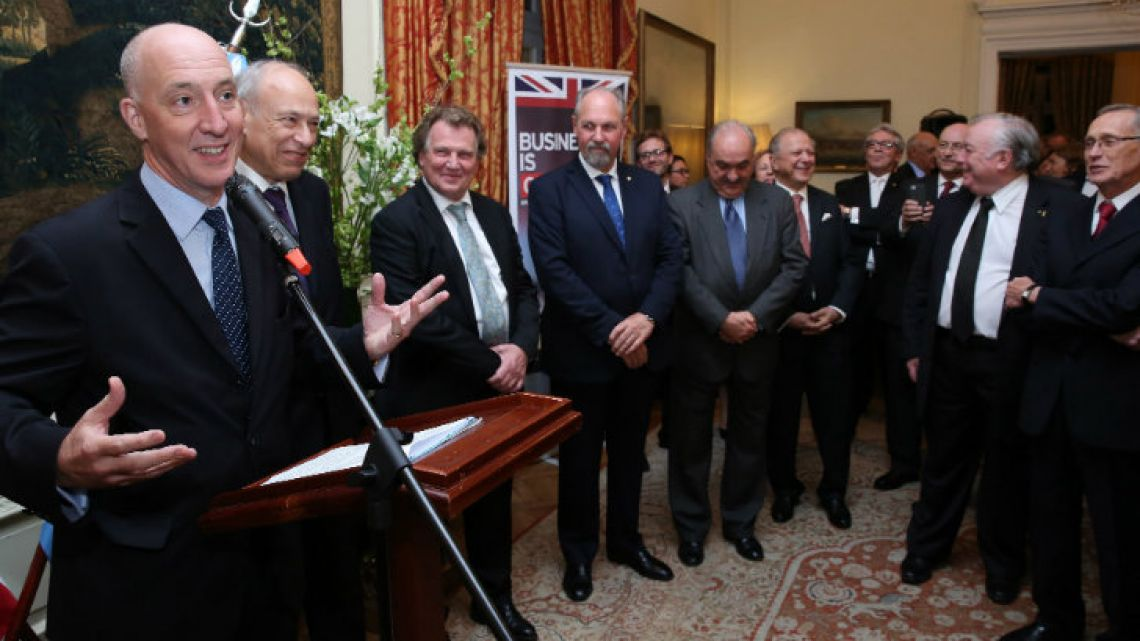 Ambassador Mark Kent hosted some of the honourees.