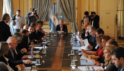 ACUERDO PREVIO. La Nación logró llegar a la instancia de presentar el Presupuesto ante el Congreso contando con el consenso de los gobernadores para las medidas centrales.