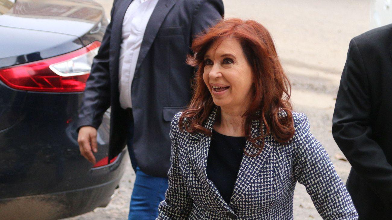 Cristina Kirchner, ex presidenta, actual senadora.