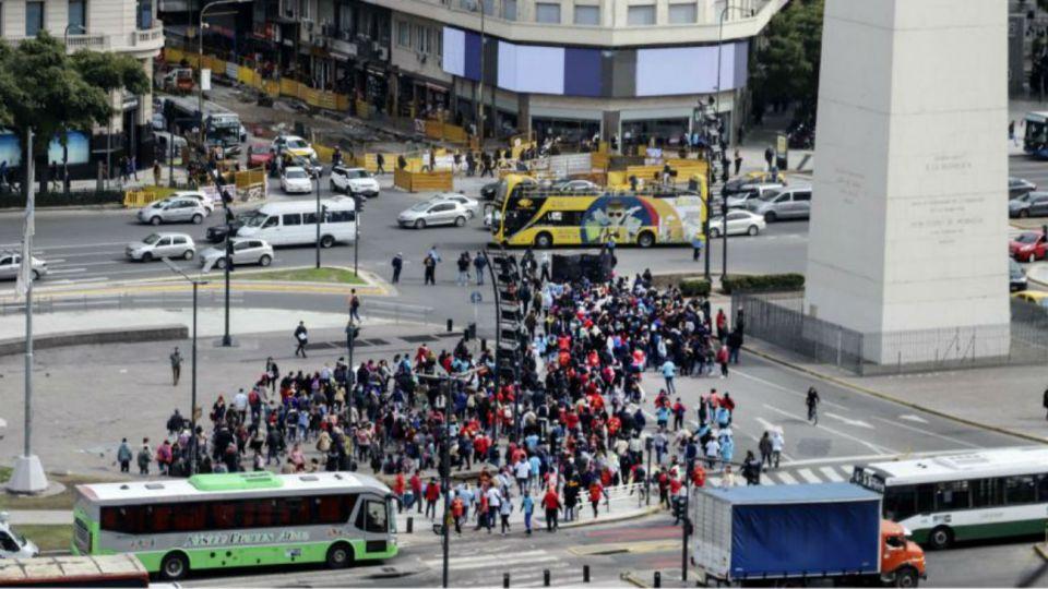 Imagen de carácter ilustrativo. Se espera una jornada con manifestaciones en el centro porteño.