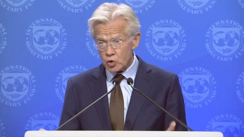 VOCERO. Gerry Rice portavoz del FMI envía señales de apoyo al Gobierno de Cambiemos
