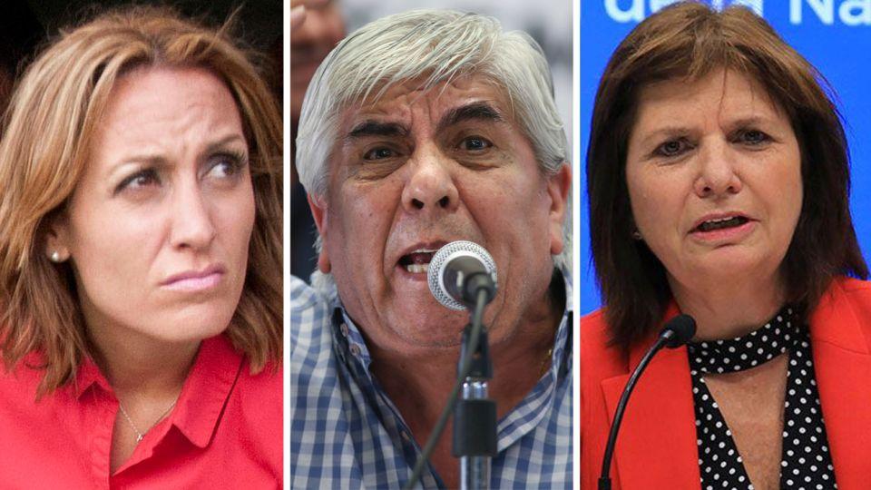Florencia Arietta , Hugo Moyano y Patricia Bullrich