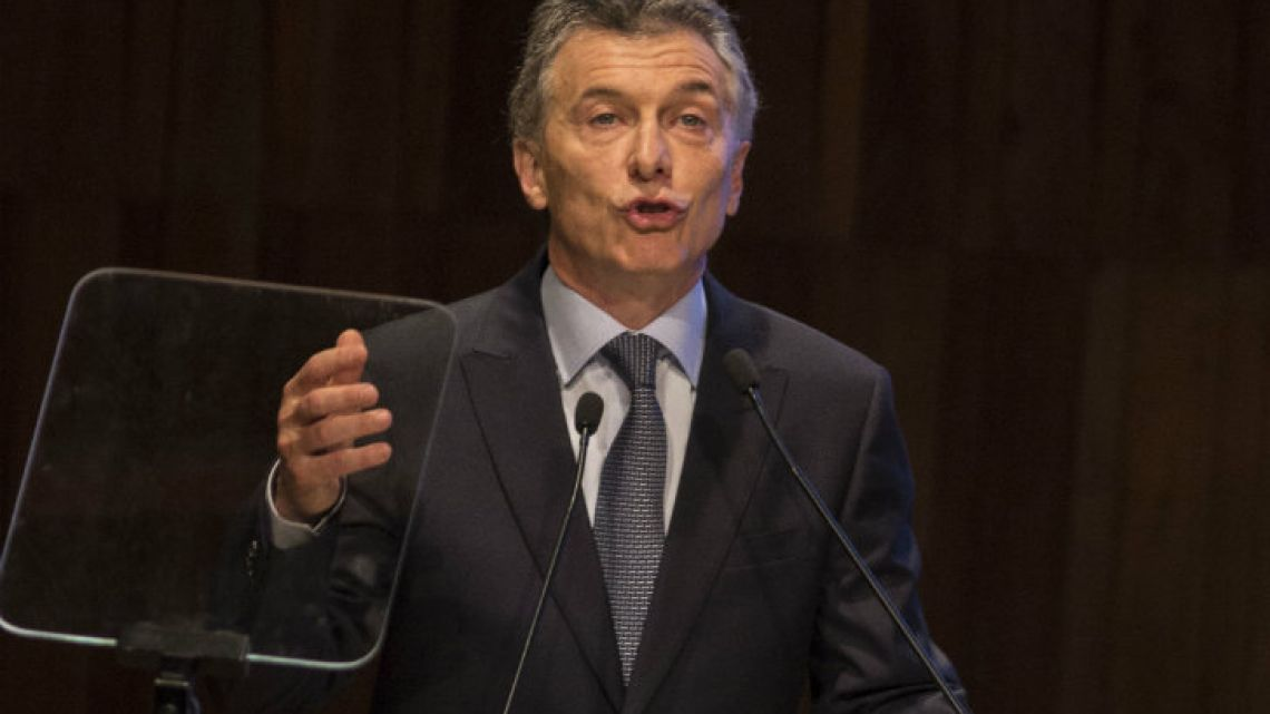 President Mauricio Macri flies to New York Saturday evening to attend the UN General Assembly.