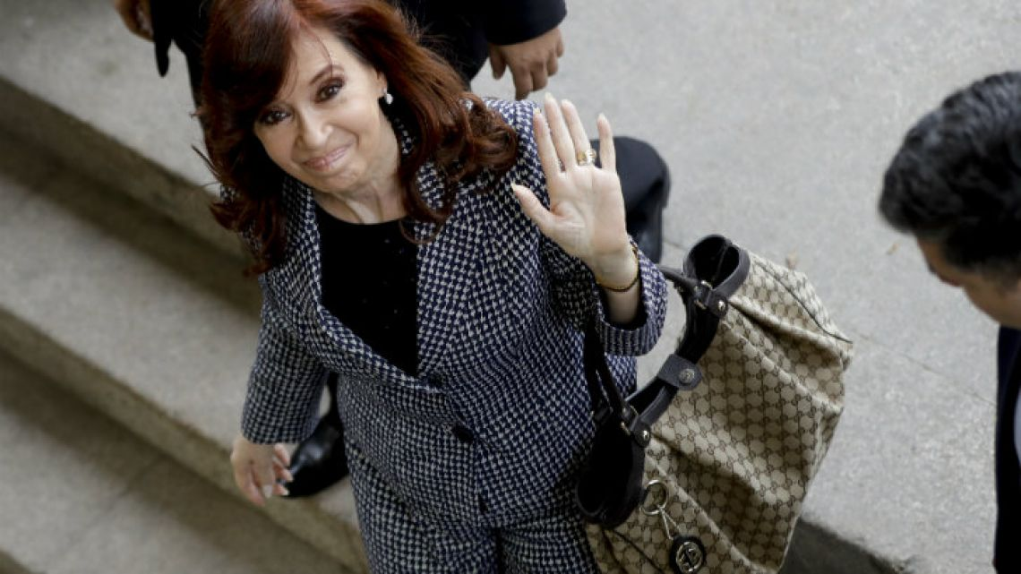 CFK is accused of being the leader of a criminal organisation.