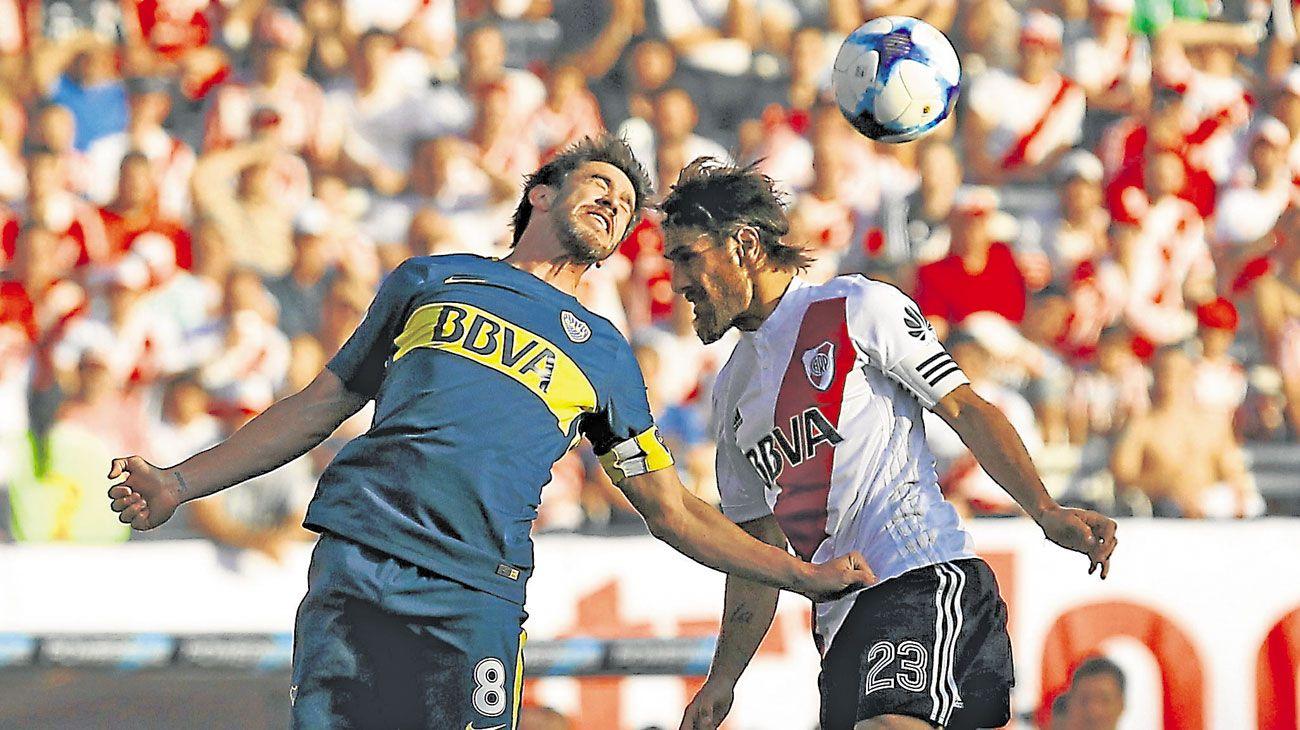 El ultimo. Boca-River, por la Superliga. Fue en el Monumental, y ganó el Xeneize.