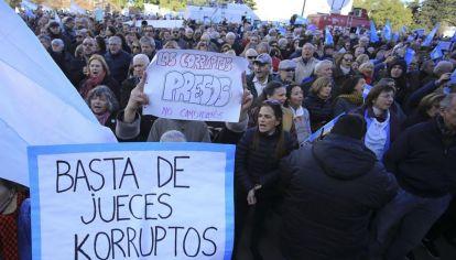 Manifestaciones. Durante el gobierno anterior, las denuncias sobre corrupción fueron una parte esencial de la protesta pública.