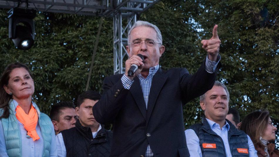 Álvaro Uribe, expresidente de Colombia.20180926