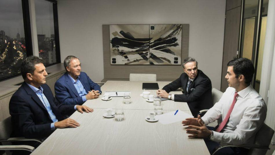 Massa, Urtubey, Schiaretti y Pichetto, juntos de cara al 2019.