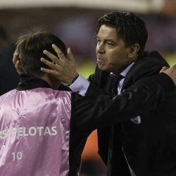 Marcelo Gallardo y su hijo Matías