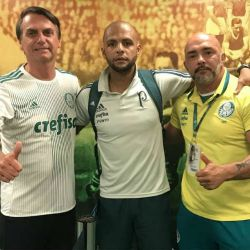 Jair Bolnoraro, hincha de Palmeiras