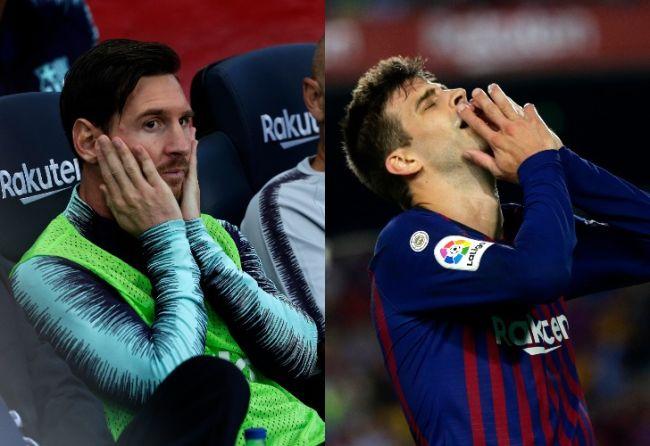 Problemas entre Piqué y Messi — BARCELONA