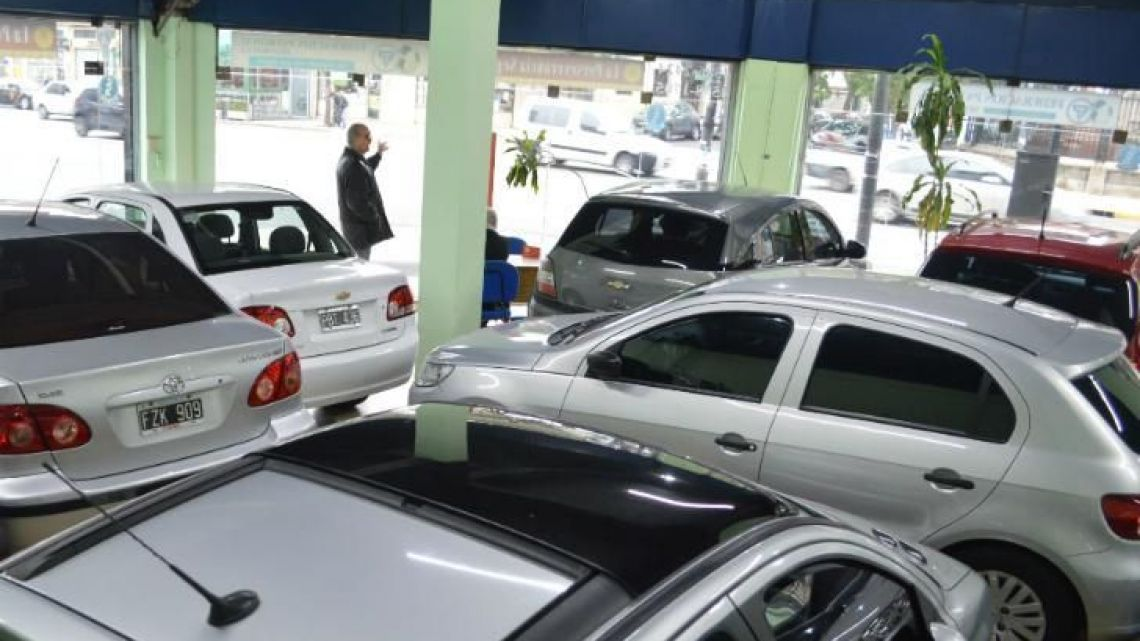 Car sales in Argentina fell 34.7% in September year-on-year.