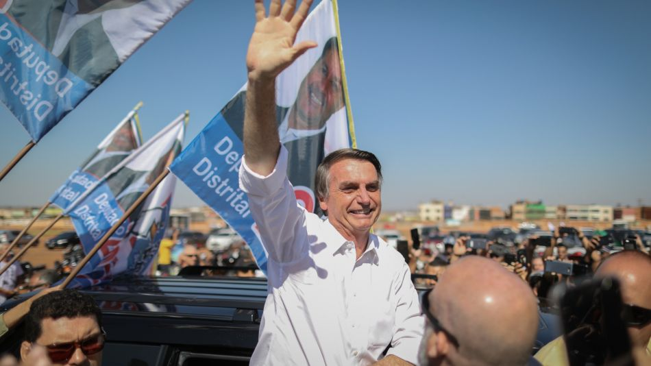 Presidential Candidate Jair Bolsonaro Holds Campaign Rally