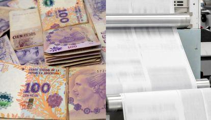 El dinero y la prensa son una promesa impresa en papel.