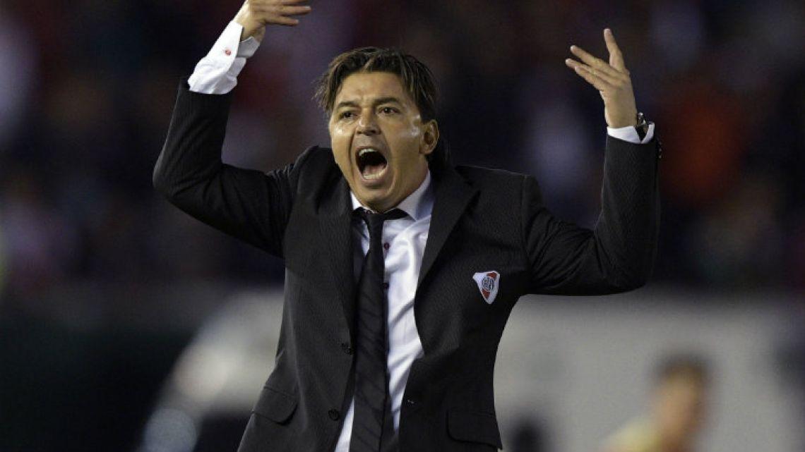 River Plate coach Marcelo Gallardo.