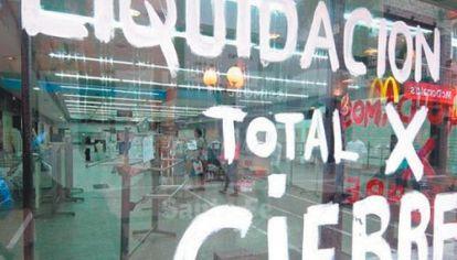 COMPLICADO. Desde abril hasta fines de septiembre cerraron en la provincia 620 negocios de comercio y servicios.