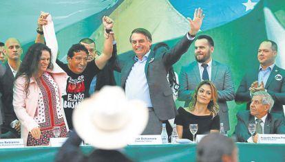 Bolsonaro. El día en el que el candidato ultraderechista anunció su candidatura.