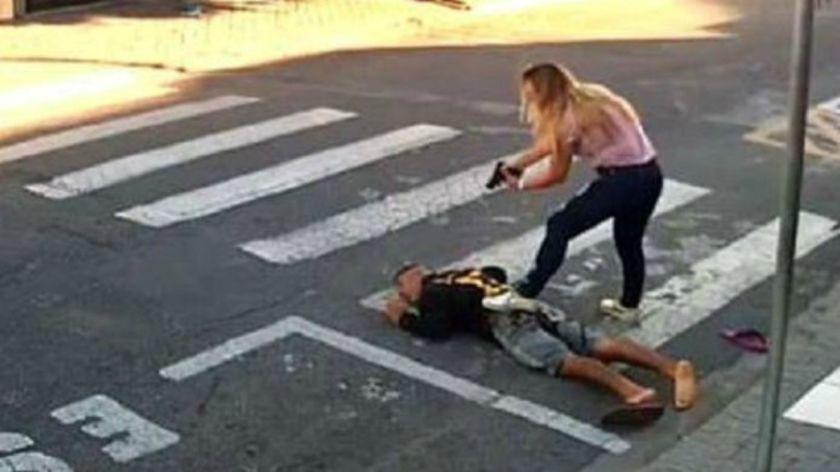 Katia Sastre, la policía