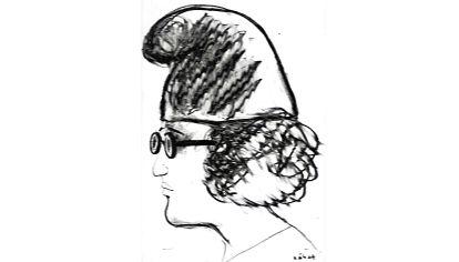 Retrato. Un dibujo de Sábat del intelectual Homero Alsina Thevenet.