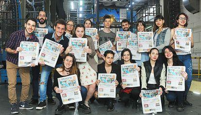Detrás de las noticias. Los estudiantes del Posgrado en Periodismo visitaron la semana pasada la redacción de PERFIL y la imprenta de la Editorial.