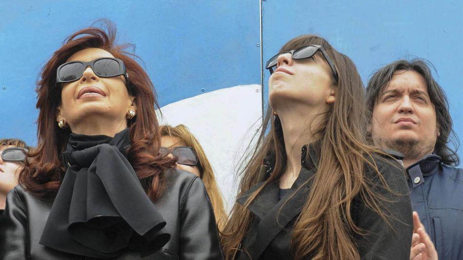 Cristina, Florencia y Máximo Kirchner