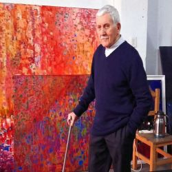 Artist Jorge Roiger in his studio.