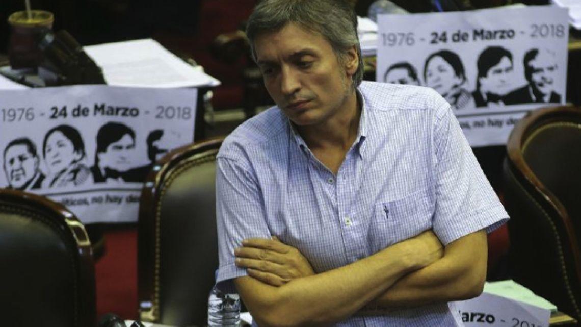Lawmaker Máximo Kirchner.