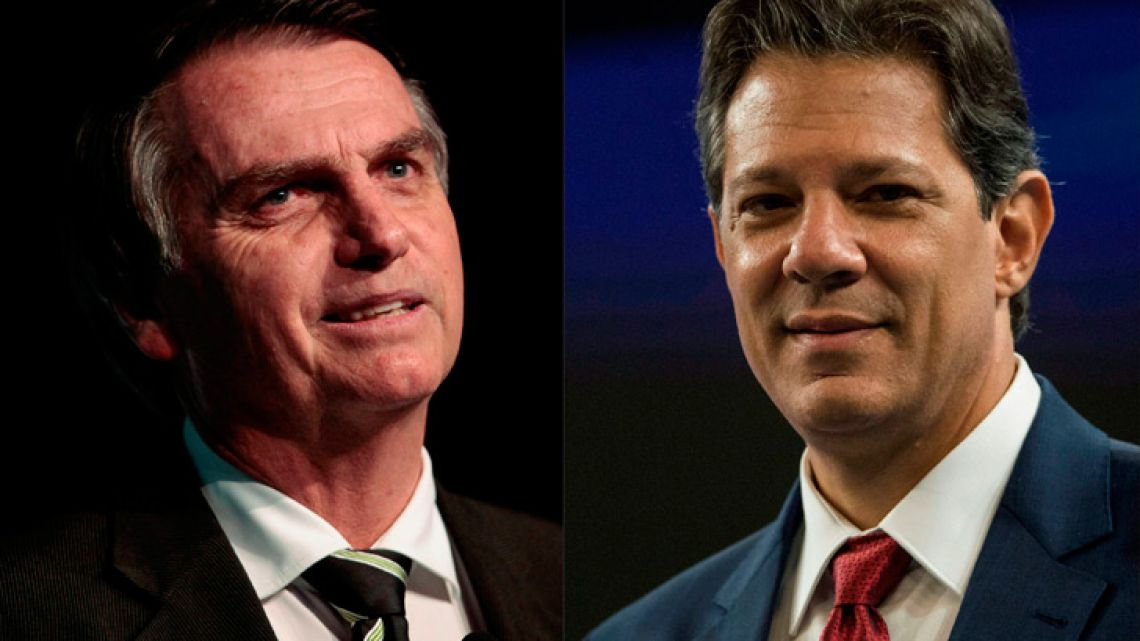 Jair Bolsonaro (left) and Fernando Haddad (right).