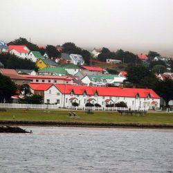 Houses on the Malvinas/Falkland Islands.