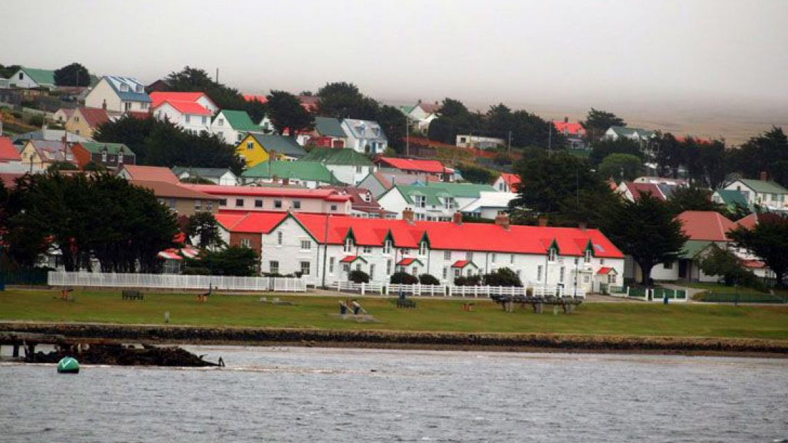 Houses on the Malvinas/Falkland Islands.