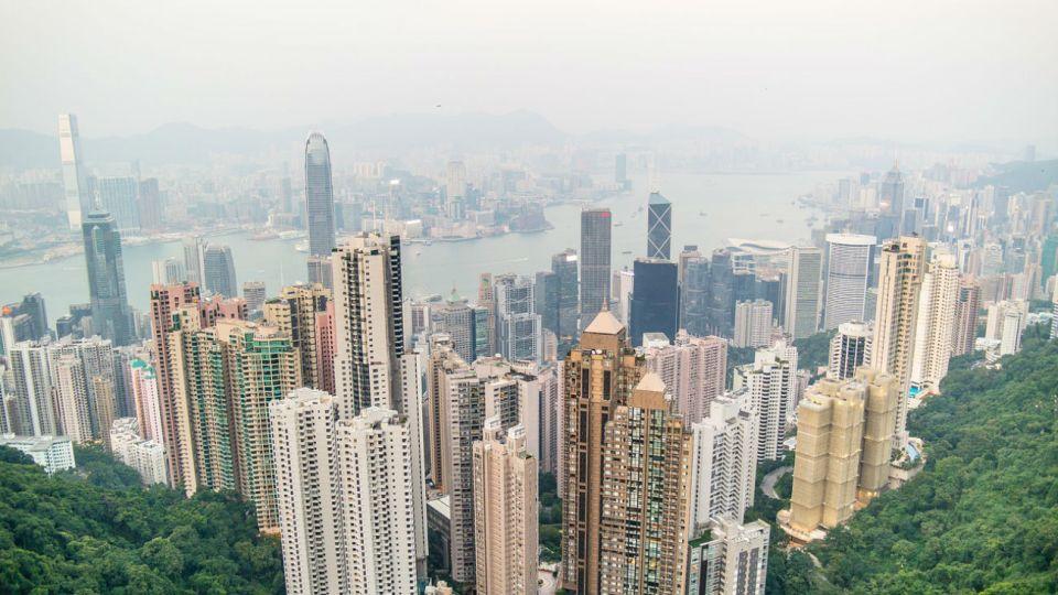 La ciudad china de Hong Kong.