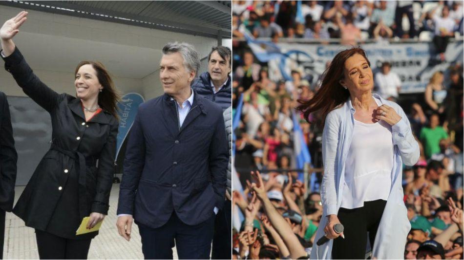 ELECCIONES 2019. Una encuesta analizó los posibles resultados de Cristina Kirchner, María Eugenia Vidal y Mauricio Macri.