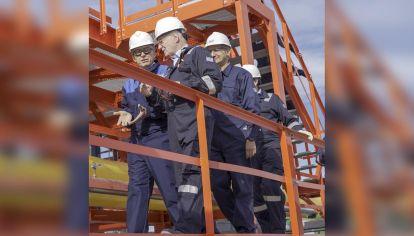 FOCO. El Presidente y Paolo Rocca, semanas atrás en Neuquén.
